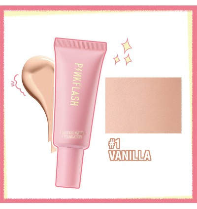 PINKFLASH Lasting Matte Foundation 100% Original - Cover blemishes, Acne and Pores
